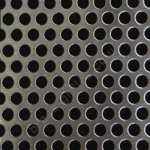 Round Holes 6mm Matt Stainless Steel Grille Sheet  1000mm x 660mm x 1mm